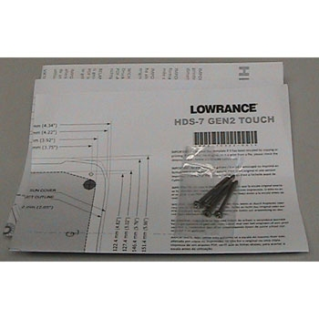 Lowrance Flush Mt. Kit for HDS Gen2 Touch Units