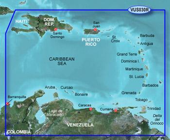 Garmin BlueChart g2 Vision Southeast Caribbean vus030r