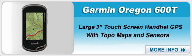 Garmin Oregon 600T Touch Screen Handheld GPS