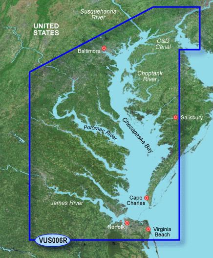 Garmin BlueChart g2 Vision Chesapeake vus006r