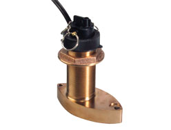Navico B744V Blue Connector Bronze Thru-Hull Transducer with Depth/Speed/Temp