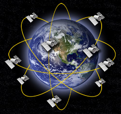 24 Satellites orbit the earth available for the whole world to use