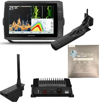 Garmin ECHOMAP Ultra 126sv with GT56UHD Transducer, LiveScope and LakeVu Ultra East Bundle