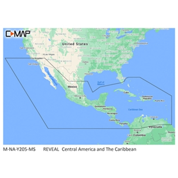 C-MAP Reveal NA-Y205 Central America and Caribbean