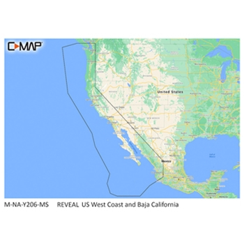 C-MAP Reveal NA-Y206 US West Coast and Baja