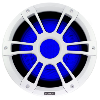 "Fusion 10"" Signature 450W Subwoofer White with LED Lighting"