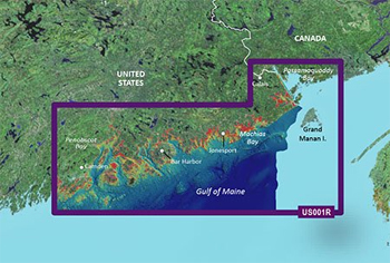 Garmin Bluechart G3 Vision North Maine Chart - VUS001R