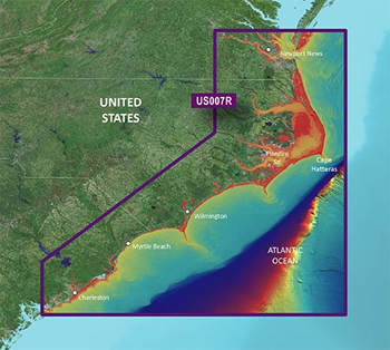 Garmin Bluechart G3 Vision Norfolk to Charleston Chart - VUS007R