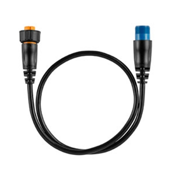 Garmin 8-pin Transducer to 12-pin Sounder Adapter Cable with XID