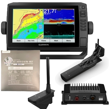 Garmin ECHOMAP UHD 93sv with GT56, LiveScope and LakeVu Ultra West Bundle
