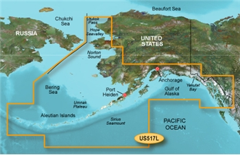 Garmin Bluechart G3 Vision VUS517L South Alaska