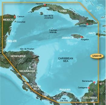 Southwest Caribbean Map Garmin Bluechart G2 HD SW Caribbean HUS031R