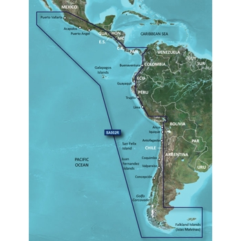 Garmin Bluechart G3 Vision South America West - VSA002R