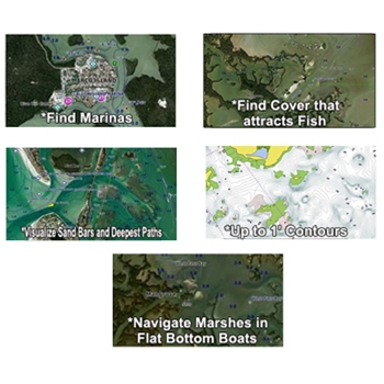 Garmin Bluechart G2 with High Resolution Satellite Imagery for Texas Gulf Coast