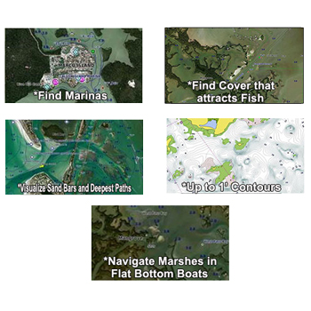 Garmin Bluechart G2 with High Resolution Satellite Imagery for the Florida Gulf Coast