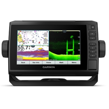 Garmin ECHOMAP UHD 74cv with Bluechart G3 and Transducer