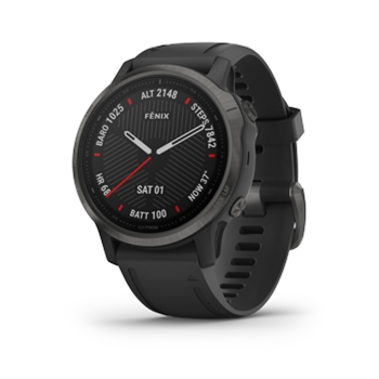 Garmin Fenix 6s Sapphire Carbon Gray with Black Band GPS Watch