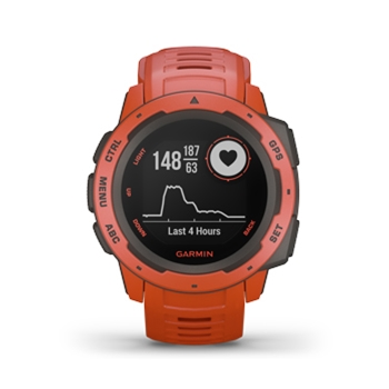 Garmin Instinct Rugged GPS Watch Flame Red