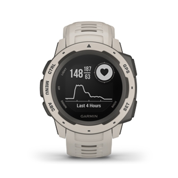 Garmin Instinct Rugged GPS Watch Tundra