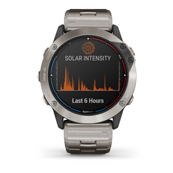 Garmin Quatix 6X Solar with Titanium Band