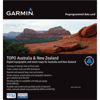 Garmin MapSource Topo Australia and New Zealand on microSD/SD