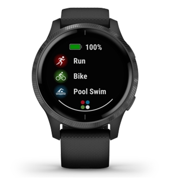 Garmin Venu AMOLED GPS Smartwatch – Black