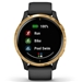 Garmin Venu AMOLED GPS Smartwatch – Black with Gold Hardware