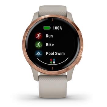 Garmin Venu AMOLED GPS Smartwatch – Light Sand