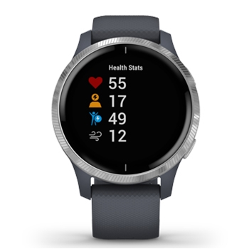 Garmin Venu AMOLED GPS Smartwatch – Granite Blue