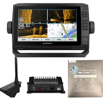 Garmin ECHOMAP UHD 93sv with LiveScope and LakeVu g3 Ultra East Bundle