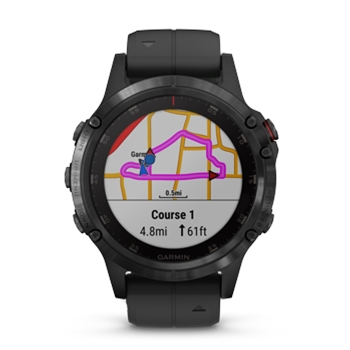 Garmin fenix 5 Plus Sapphire GPS Watch with Black Band