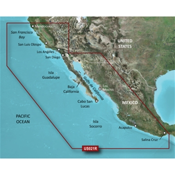 Garmin Bluechart G3 California to Mexico Chart - HXUS021R