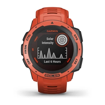 Garmin Instinct Solar Rugged GPS Watch Flame Red