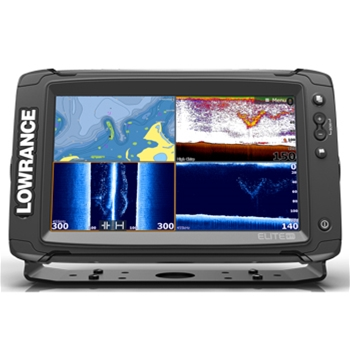 Lowrance Elite 9Ti with Mid/High/TotalScan Transducer and CMap Pro