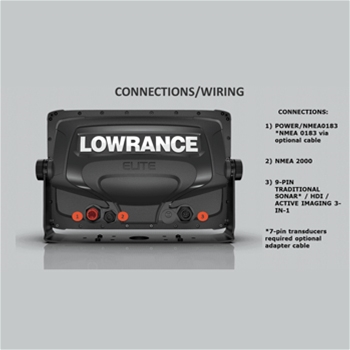 Lowrance Elite 7 Ti2 with Nav+ Charts and 3 in 1 Transducer