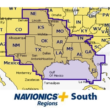 Navionics plus pre loaded sd card south region