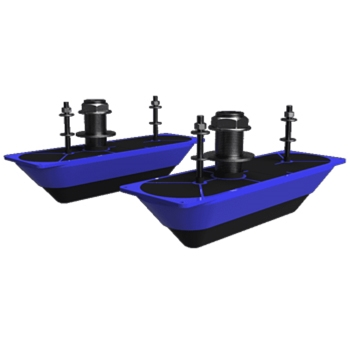 Navico StructureScan 3D Stainless Steel  Thru-Hull Transducer Pair