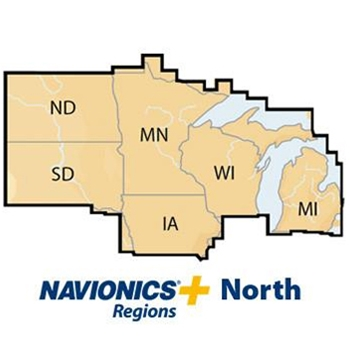 Navionics PLUS Pre-Loaded SD Card - North Region