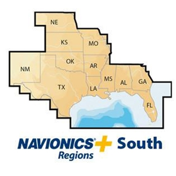 Navionics PLUS Pre-Loaded SD Card - South Region