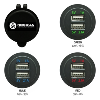 Nocqua Dual USB Adapter