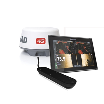 Simrad GO12 XSE with Active Imaging Transducer and 4G Radar