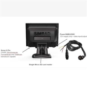 Simrad GO5 XSE with CMAP Charts and Active Imaging Transducer