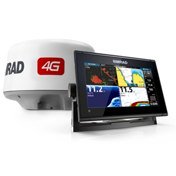 Simrad GO9 XSE with Active Imaging Transducer and 4G Radar