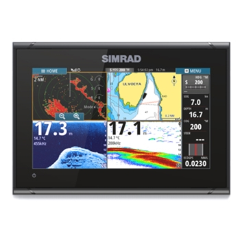 Simrad GO9 XSE With TotalScan Transducer, C-Map Charts and 4G Radar Bundle
