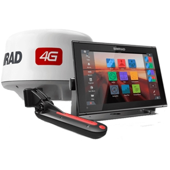 Simrad GO12XSE with TotalScan Transducer and 4G Radar Bundle