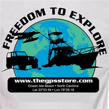 The GPS Store - Freedom to Explore T Shirt