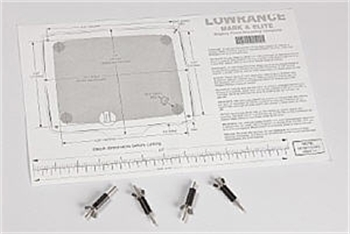"Lowrance Flush Mount Kit for Mark and Elite 5"" Series"