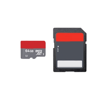 microSD 64GB Class 10 HC with SD Adapter Blank