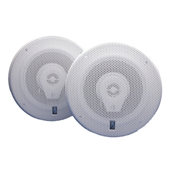 "Poly-Planar MA8506 6"" White Titanium Series Speakers - Set of Two"