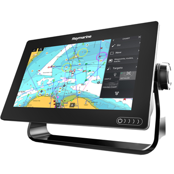 Raymarine Axiom 9RV with Navionics+ and DownVision Transducer